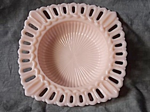Jeannette Glass Shell Pink Square Dish (Image1)