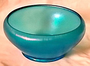 Stunning Blue Stretch Glass Bowl