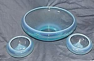 Fostoria Seascape Console Set Blue Opalescent (Image1)