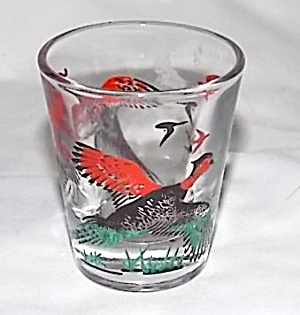 Pheasant Shot Glass Fire King (Image1)