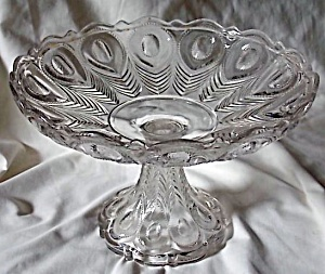 Rare Georgia Compote Richards & Hartley Glass