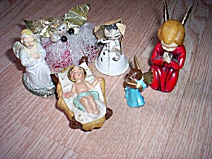 Lot of Vintage Christmas Angels (Image1)