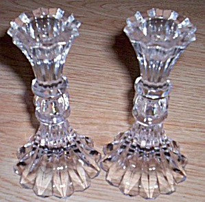 Pair of Lovely Crystal Candle Holders (Image1)