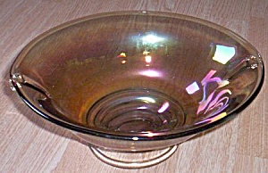 Large Oval Iridescent Console Bowl