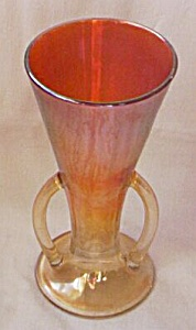 Imperial Handled Vase Carnival Glass