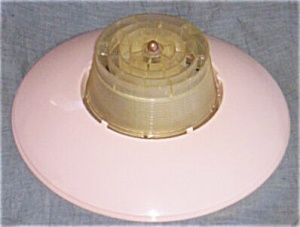 Retro 50's Pink Plastic Ceiling Light Shade Free Shipping (Image1)