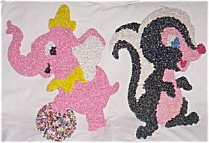 Pair Vintage Plastic Wall Animals (Image1)