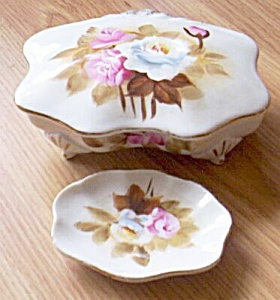 Porcelain Hand Painted Ucagco Trinket and Pin Dish (Image1)