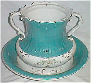 Antique Wash Basin and Slop Jar Marked Imperial (Image1)