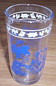 Vintage Child's Juice Glass Blue Bears (Image1)