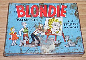 Vintage Blondie Paint Set Tin Box (Image1)