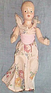 """Antique Full Body 8"""" Composition Doll jointed Shoulders (Image1)"""