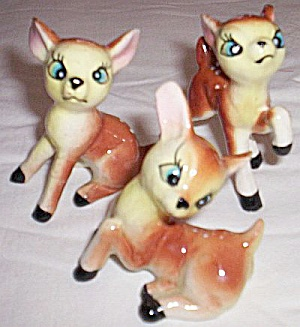 Set of 3 Fawn Figurines Deer (Image1)