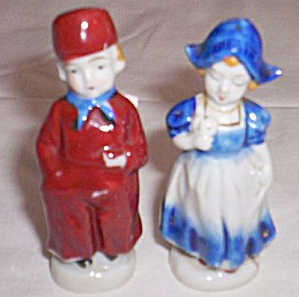 Occupied Japan Dutch Kids Figurines