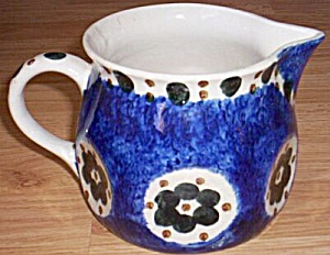 Antique German Spongeware Jug Milk Pitcher (Image1)
