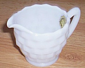 Hazel Atlas Opaque Ware Creamer Early American Style (Image1)