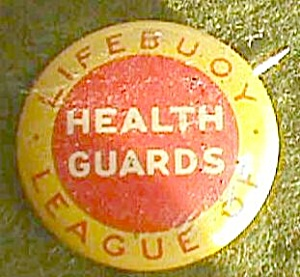 Lifebuoy League of Health Guards Pin Back Lapel Free Shipping (Image1)