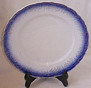 Limoges China Flow Blue Dinner Plate (Image1)