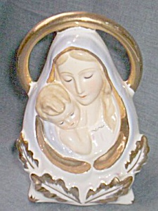 Vintage Madonna and Child Head Vase (Image1)