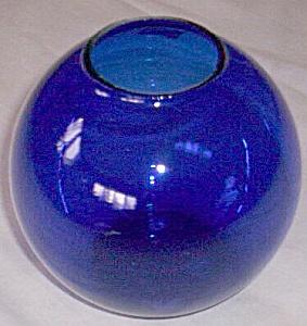 Heisey Cobalt Ivy Blue Ball Vase (Image1)