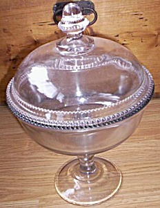 Huge Covered Compote U S Glass Washington Pattern