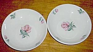Pair Ballerina Sauce Bowls Rose Pattern (Image1)