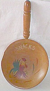 Vintage Wood Snack Dish Rooster (Image1)