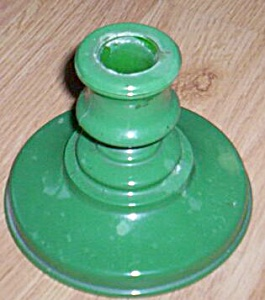 Single Candle Holder Fired On Green (Image1)