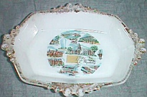 Vintage Wyoming Souvenir Trinket Dish (Image1)