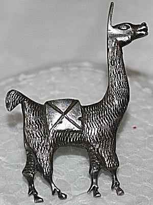 Sterling Silver Llama Pin Marked (Image1)