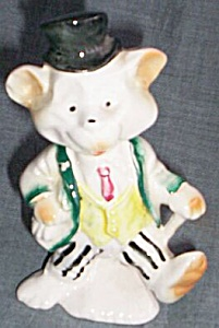 Comical Figurine Bear in a Top Hat (Image1)