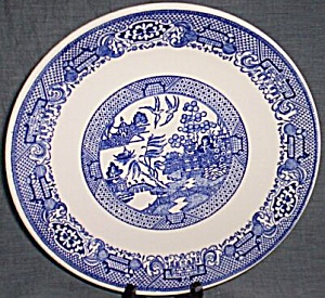 Vintage Blue Willow Dinner Plate (Image1)