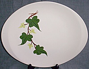 Blue Ridge Pottery Oval Serving Platter Baltic Ivy (Image1)