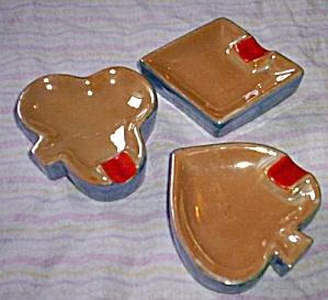 3 Porcelain Ashtrays Deck of Cards (Image1)