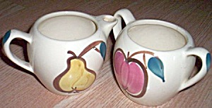 Purinton Pottery Cream And Sugar Fruit (Image1)