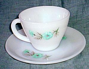 Fire King Bonnie Blue Cup Saucer Set (Image1)