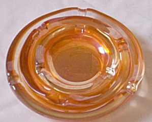 3 Graduated/nesting Carnival Glass Ashtrays