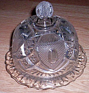Antique Dome Top Butter Dish Glass Pattern Glass At