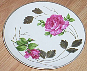 Hand Painted Plate Roses Germany Jonroth (Image1)