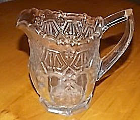 1912 Us Glass Creamer Paneled 44