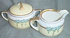 Stunning  Antique Cream & Sugar Set Impressed KPM (Image1)