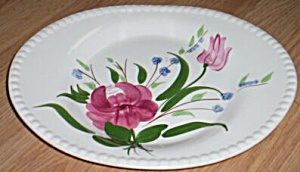 Blue Ridge Pottery Oval Tray Bluebell Bouquet Free Shipping