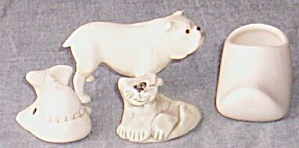 Lot Of Vintage Miniature Pottery Animals Shoe
