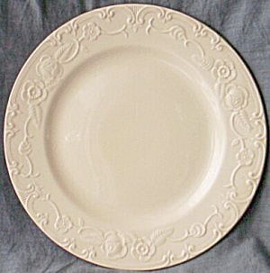 Homer Laughlin Oven Serve Dinner Plate Silver Trim