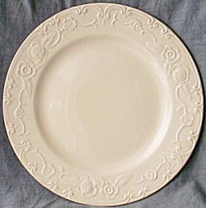 Homer Laughlin Oven Serve Dinner Plate Silver Trim (Image1)
