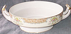 Noritake Round Vegetable Bowl Chevonia Reversed Colors
