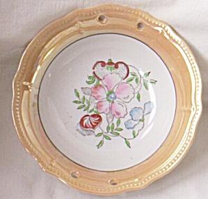 Lovely Lusterware Small Serving Bowl Roses (Image1)