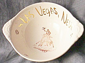 Homer Laughlin Nautilus Las Vegas Souvenir Bowl (Image1)