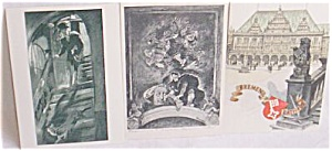 3 Vintage German Postcards 1 Max Slevogt (Image1)