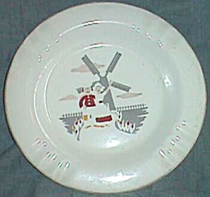 "The 'Sabina"" Line Ashtray with Dutch Couple Transfer (Image1)"